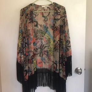 Floral Kimono - Bathing Suit Cover Up